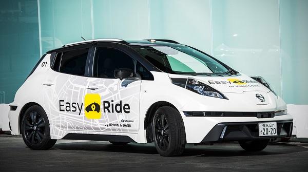 Nissan y DeNA desarrollan un taxi autónomo
