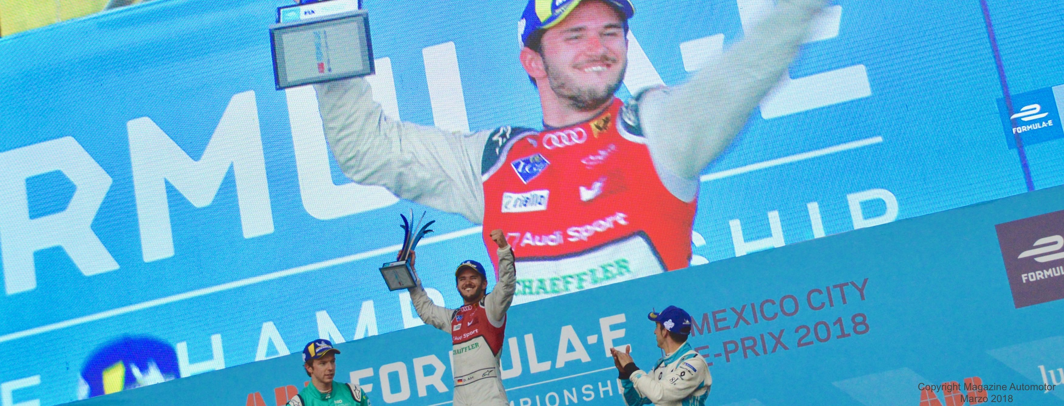 Daniel Abt de la escudería Audi Sport ABT Schaeffler ganó el ABB FIA Formula E de la CDMX 2018