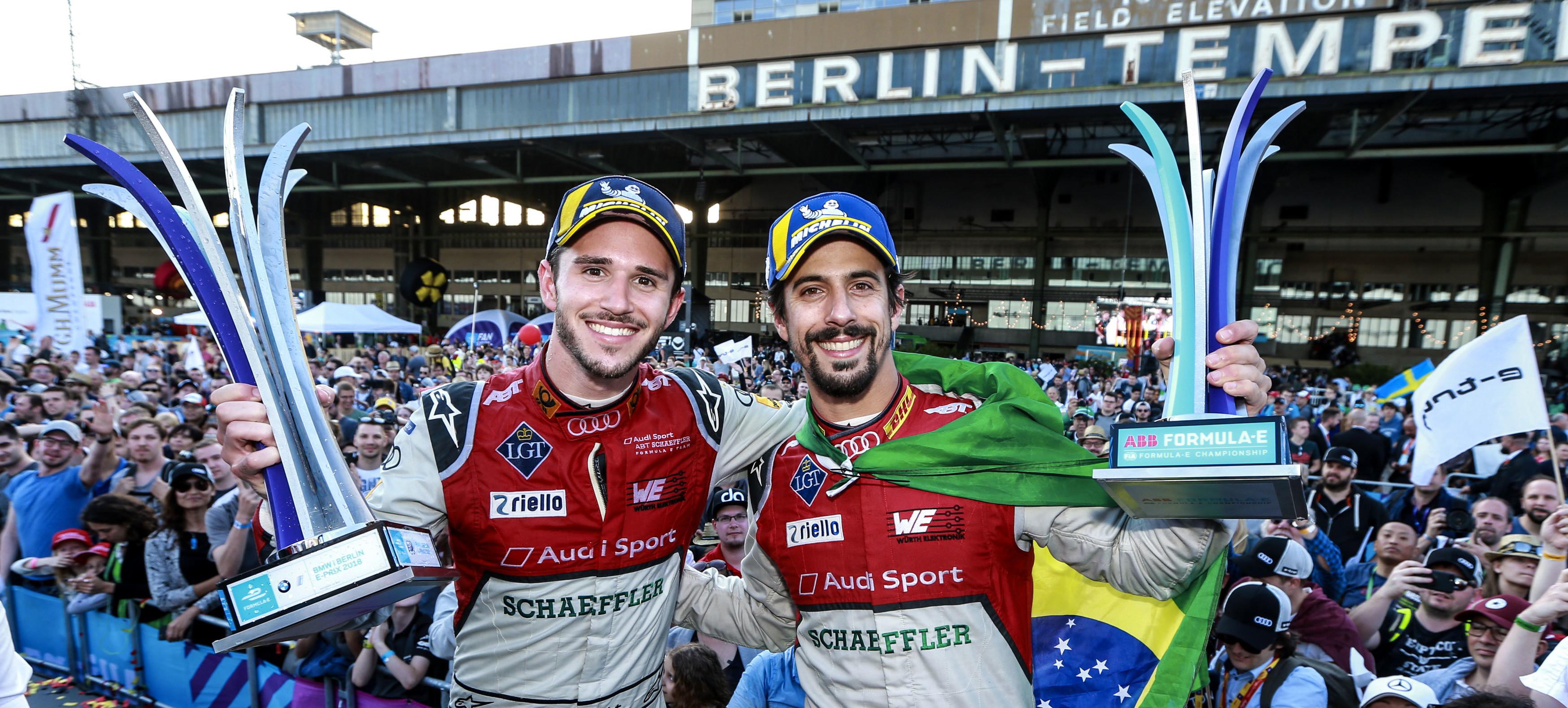 Audi electrificó Berlín con un brillante resultado en la carrera de Fórmula E del sábado