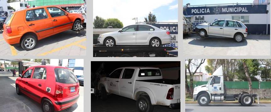 Estado de Puebla, cuarto lugar nacional en robo de vehículos asegurados