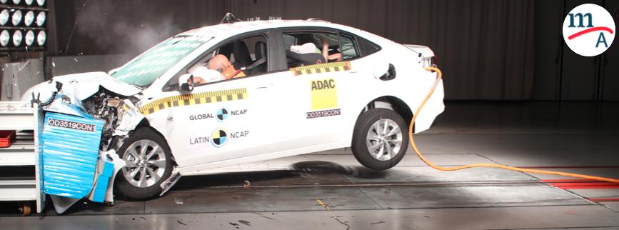 El Nuevo Chevrolet Onix Plus logró cinco estrellas de protección de adultos e infantil: Latin NCAP