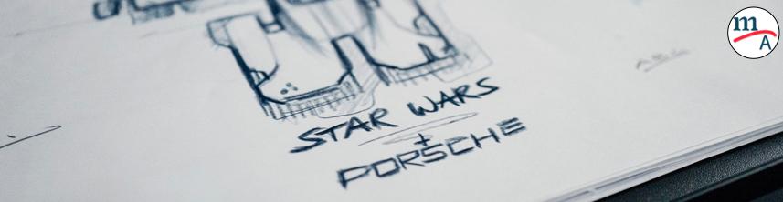 """Porsche y Lucasfilm diseñan una nave espacial para el estreno de """"Star Wars: el ascenso de Skywalker"""""""