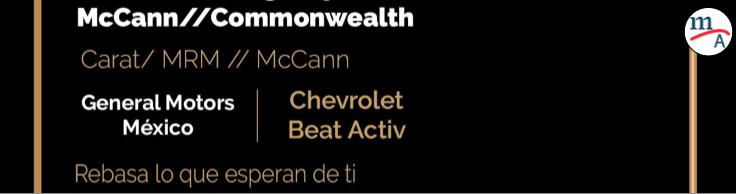 Chevrolet fue premiado con tres Effie
