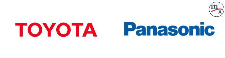Toyota y Panasonic se han asociado para producir baterías para autos eléctricos