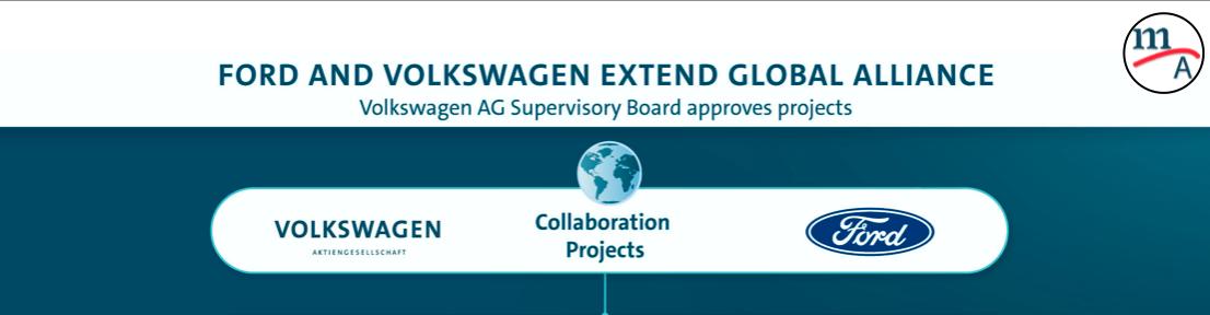 Alianza global Volkswagen-Ford para desarrollar vehículos comerciales y más