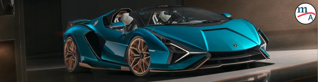 El Lamborghini Sián Roadster, un superdeportivo híbrido descapotable de edición limitada