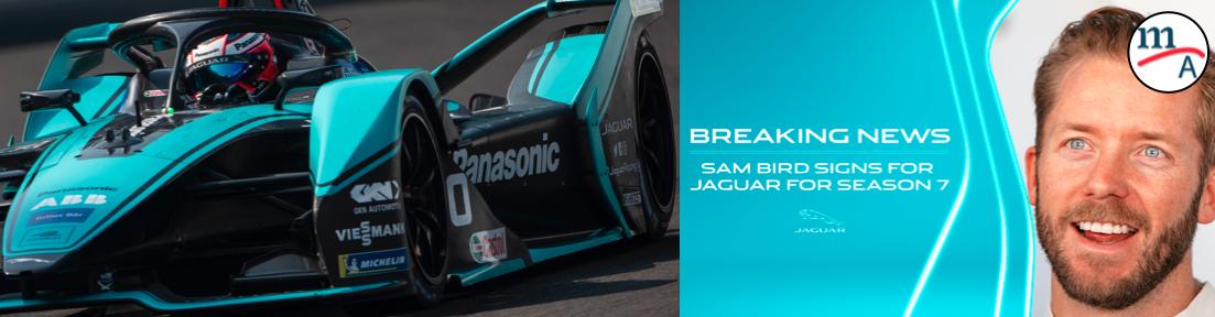 Sam Bird firmó con Panasonic Jaguar Racing