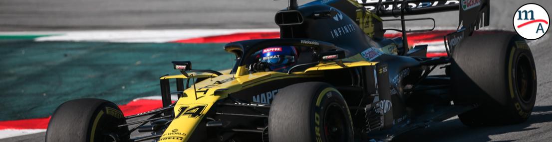 Alonso tomó el volante de un F1 por primera vez en dos años