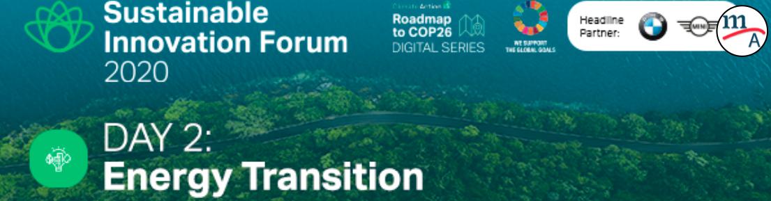 Foro de Innovación Sostenible 2020 – Día 2: Transición energética