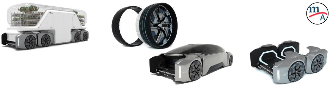 Hankook Tire presentó un innovador concepto de neumático modular
