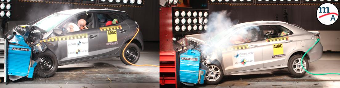 ¡Decepcionantes resultados para Hyundai HB20 y Ford Ka! : Latin NCAP