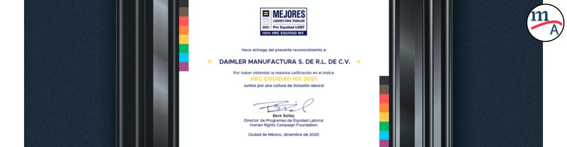 Mercedes-Benz Autobuses obtiene el certificado HRC Equidad MX 2021