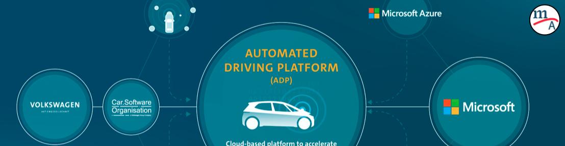 Grupo VW y Microsoft harán una plataforma de conducción automatizada