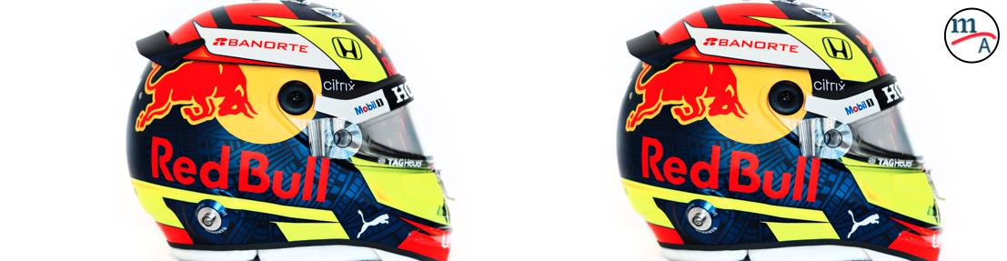 Nuevo casco de Sergio Pérez