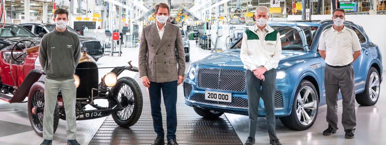 Bentley fabrica su auto 200,000