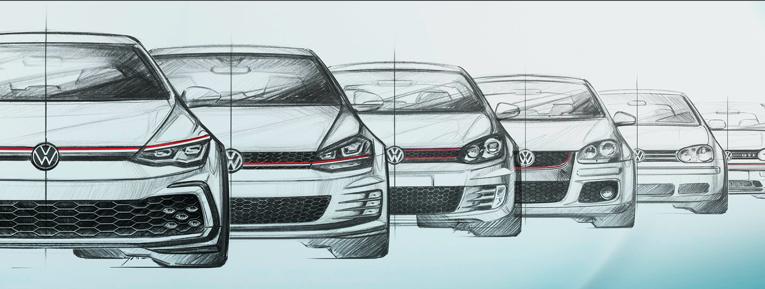 #TBT: Ocho generaciones del Golf GTI