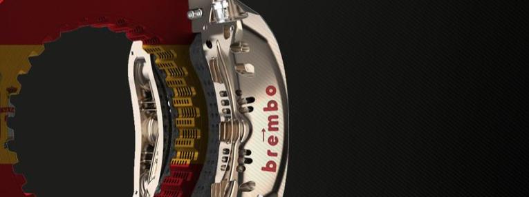 España GP circuito de dificultad media para los frenos, Brembo