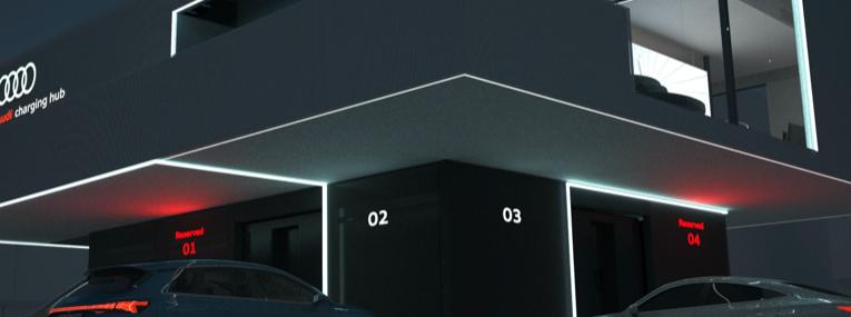 Concepto piloto de carga rápida de Audi