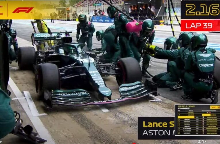 Aston Martin, !el más rápido en los pits!, en España