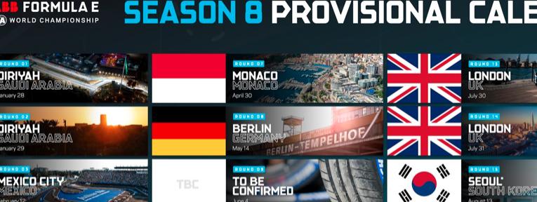 Ciudad del Cabo, Vancouver y Seúl en el nuevo calendario de Fórmula E