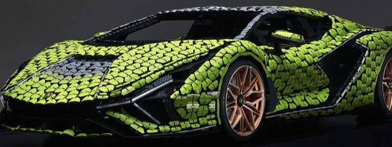 LamborghiniSián FKP 37 de LEGO de tamaño natural
