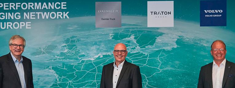 TRATON GROUP, Daimler Truck y Volvo Group planean una red de carga de alto rendimiento