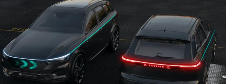 Conceptos de comunicación luminosa para la conducción autónoma