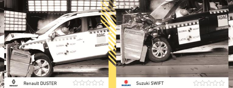 Cero estrellas para Renault Duster y Suzuki Swift: Latin NCAP