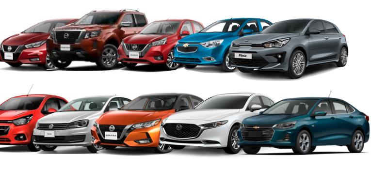 Los autos más vendidos en México