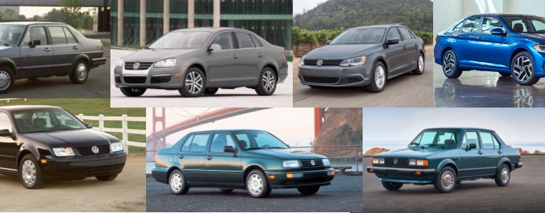 Siete generaciones del Volkswagen Jetta