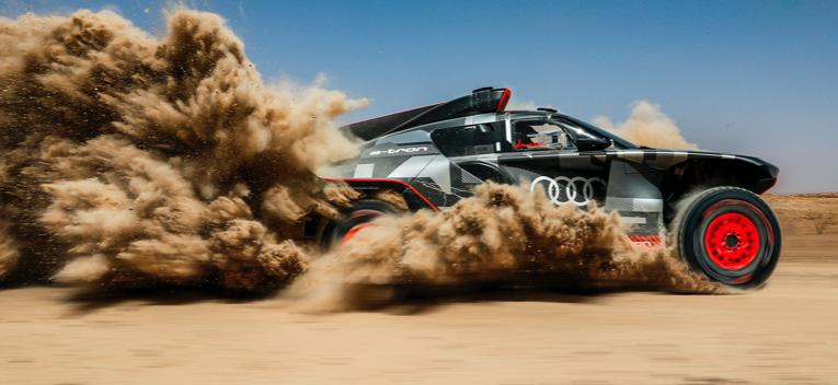 Prueba en Marruecos para el Audi RS Q e-tron