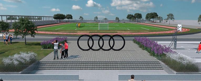 Audi patrocinará la construcción de un parque deportivo en San José Chiapa